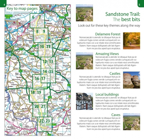 Walking Cheshire's Sandstone Trail - Ordnance Survey 1:25,000 map book