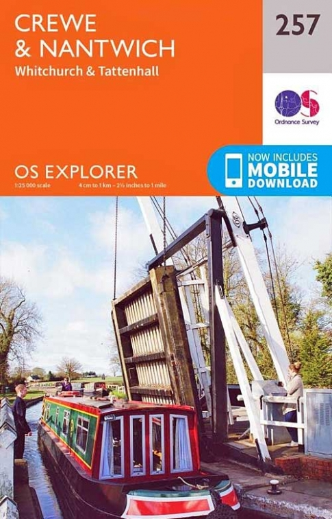 OS Map 257 Crewe & Nantwich