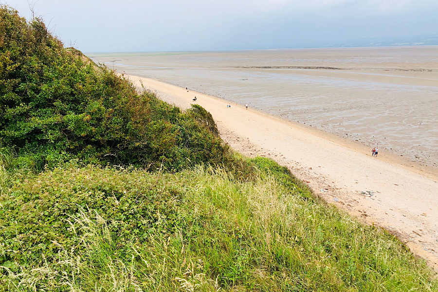 Thurstaston Country Park, Wirral, looking down onto the beach